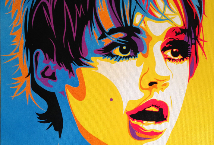 #Edie Sedgwick #Icon #Sirens #Urban Art #contemporary #Street Art #Spray Paint #Original Canvas #Rourke Van Dal